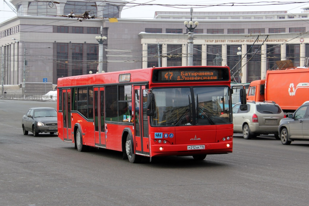 Красный автобус фото казань
