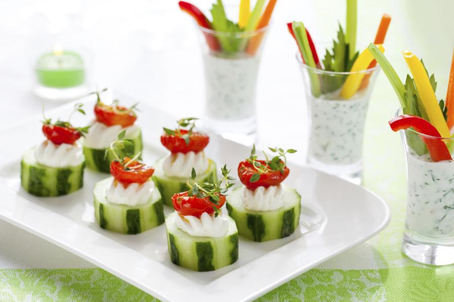 Фотографии закуски из свежих овощей