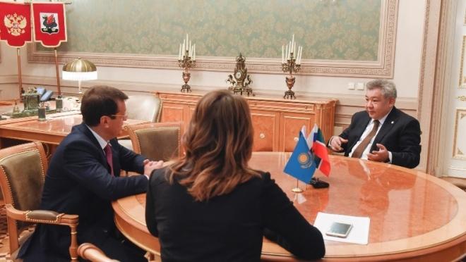 Новости  - Состоялась встреча Метшина и  Генерального консула Республики Казахстан в Казани