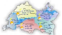 Сегодня по Татарстану местами кратковременный дождь