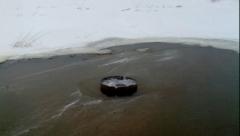 Новости  - На волге в Кировском районе была найдена опасная полынья