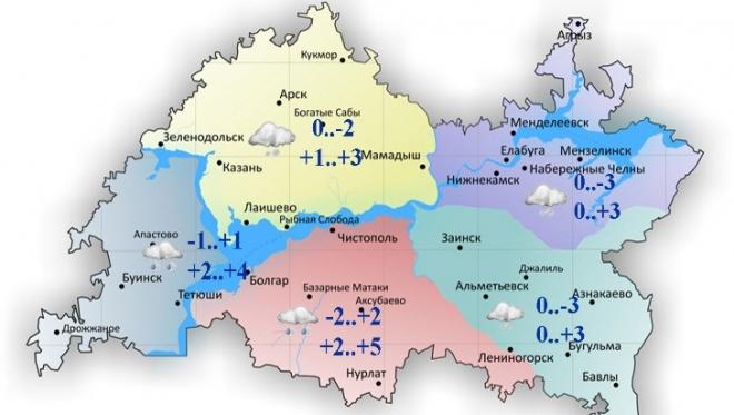 Сегодня в Татарстане облачно и с небольшими осадками
