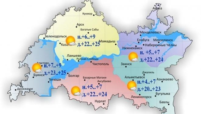 Сегодня в Татарстане существенно потеплеет