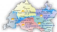 В первый зимний день по республике ожидается облачная погода с прояснениями