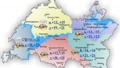 Сегодня по Татарстану ожидаются дожди и грозы