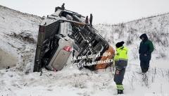Новости  - Автовоз улетел в кювет: ДТП произошло в Альметьевском районе Татарстана
