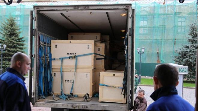 4 тонны экспонатов привезли в Казанский Кремль из Эрмитажа