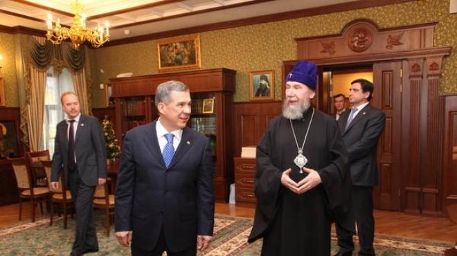 Президент РТ сегодня встретится с архиереями Татарстанской митрополии РПЦ