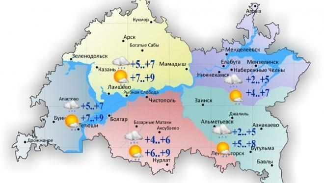 Сегодня в Татарстане ожидается ветер до 15 м/с