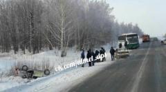 Новости  - На дороге Татарстана столкнулись автобус и легковая машина
