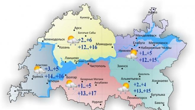 11 июня в Татарстане кратковременные дожди и переменная облачность