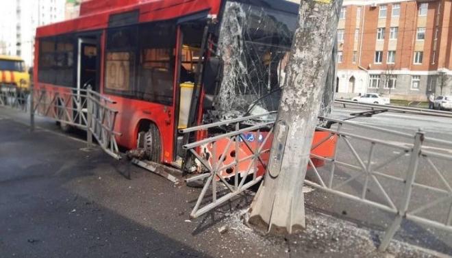 В Казани автобус попал в ДТП: есть пострадавшие