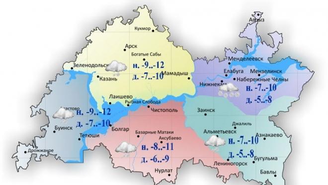 6 января в Татарстане ожидается метель и снежные заносы