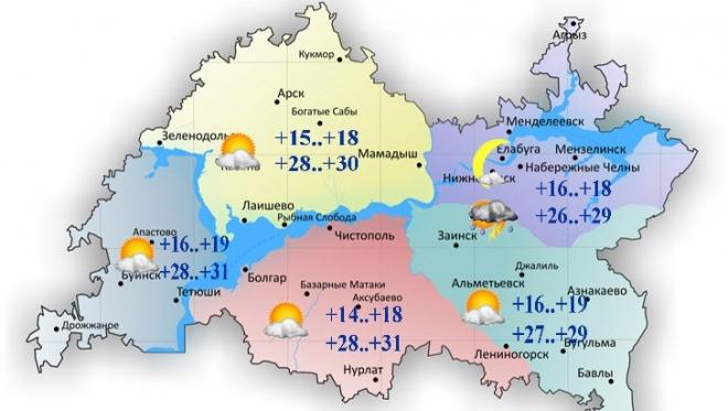 3 августа в республике жаркая погода и локальные кратковременные осадки