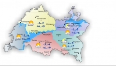 Сегодня днем в Татарстане без осадков