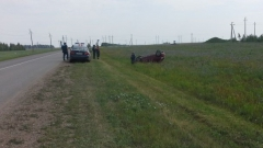 Новости  - ДТП с участием детей: иномарка перевернулась на трассе в Татарстане