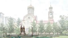 По улице Чистопольская установят памятник святым Петру и Февронии