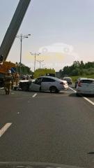 Новости Транспорт - Nissan врезался в «Газель» дорожной службы на въезде в город
