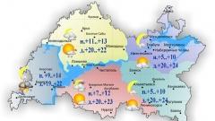 Сегодня по Татарстану ожидается умеренный дождь