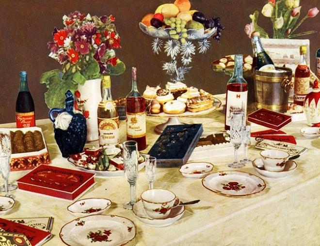 Новогодний стол по-советски — нестареющая классика