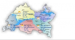 Сегодня в Татарстане переменная облачность и мороз
