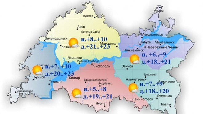 Синоптики Татарстана: осадков днём не ожидается