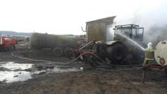 Новости Происшествия - Накануне в Лениногорском районе сгорел трактор