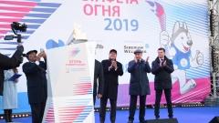 Новости  - По казанским улицам пронесли главный символ грядущей Универсиады в Красноярске