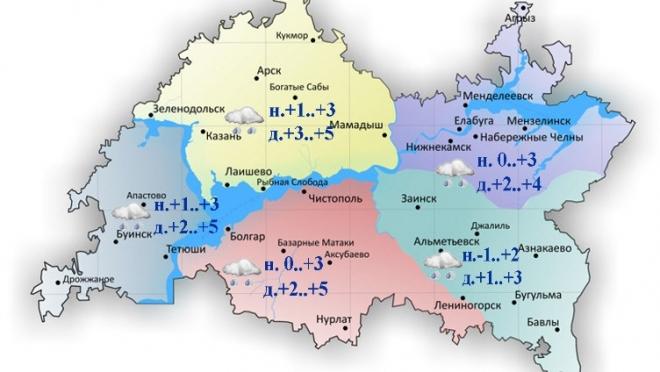 Сегодня на дорогах Татарстана ожидается образование гололедицы
