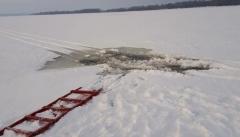 Новости  - За сегодня зарегистрировано два случая провала мототехники под лёд