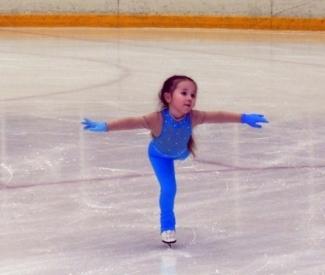 В Сочи выступит самая юная фигуристка из Казани – 3-летняя Риана Кадырова