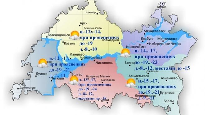 По Татарстану температура воздуха опустится до 24 градусов ночью