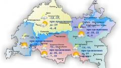 16 декабря по Татарстану ожидается слабый снег