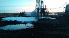 Этой ночью произошел пожар на нефтяной скважине