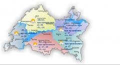 В Татарстане морозно и местами снежно