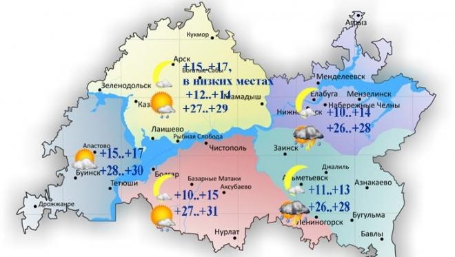 2 августа в Татарстане воздух прогреется до 32 градусов тепла