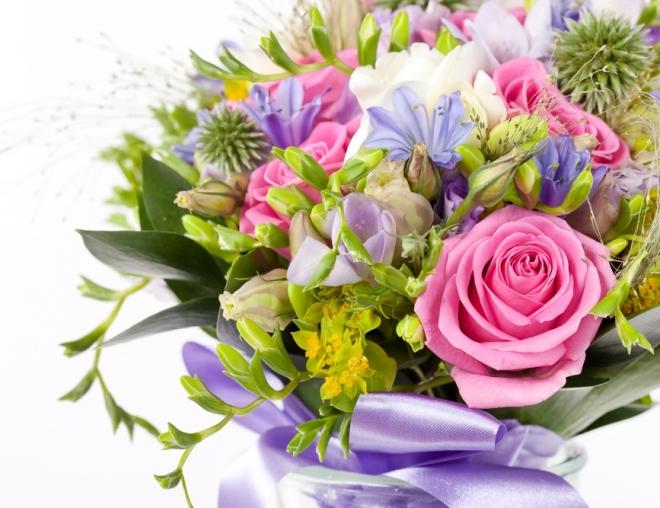 Фото букет цветов открытка