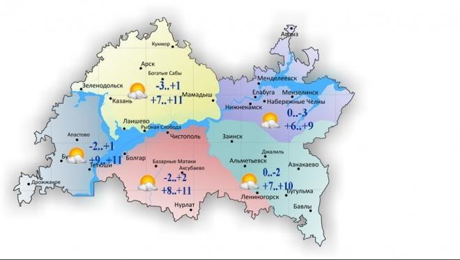 Сегодня в республике воздух прогреется до 11 градусов тепла