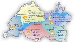Сегодня татарстанцев ожидает солнечная погода с вероятным дождем