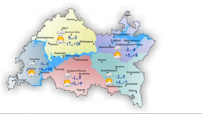 Сегодня в Татарстане тепло и без осадков
