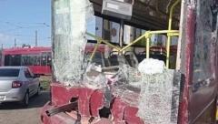 Новости Происшествия - На Сибирском тракте в Казани столкнулись два трамвая