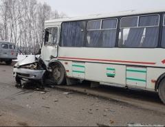 Новости  - Под Зеленодольском автоледи на «Део Матиз» врезалась в пассажирский автобус