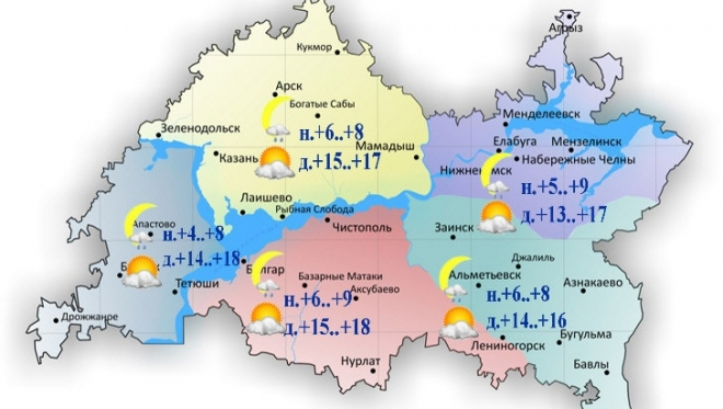 Сегодня в Татарстане осадков не ожидается
