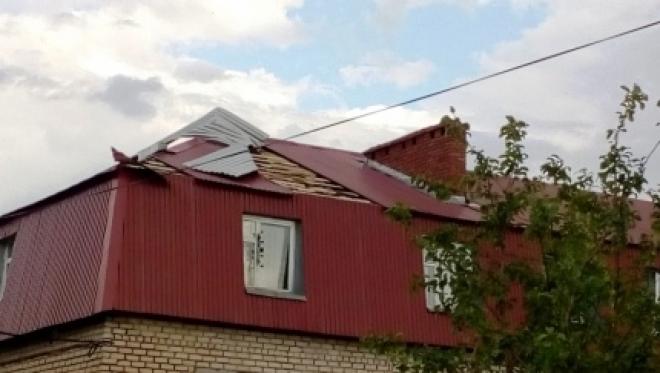 Накануне вечером в Татарстане ветром повредило множество домов