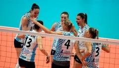 Казанские волейболистки обыграли «Сахалин» с сухим счетом