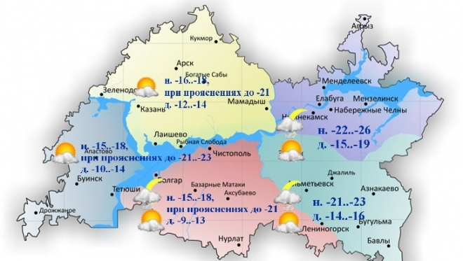 На территории республики ожидается сильное похолодание