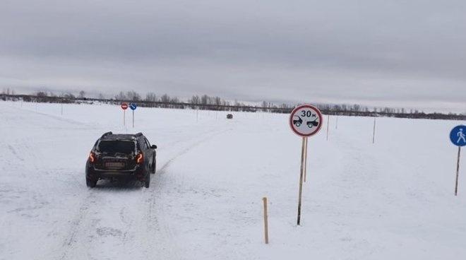 Ледовую переправу через Каму временно закрыли