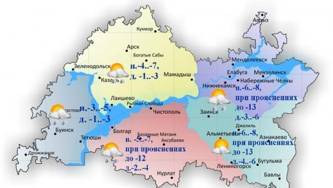 24 декабря в Казани и по Татарстану облачность с прояснениями