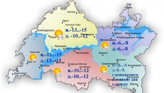 13 января станет заметно холоднее ближе к вечеру