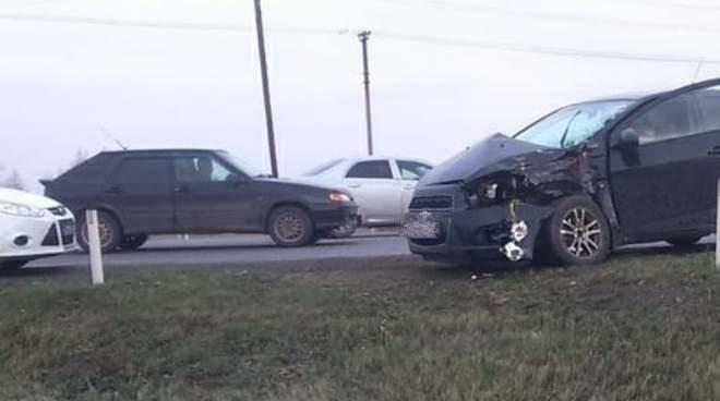 Накануне в Татарстане столкнулись автомобиль и автобус